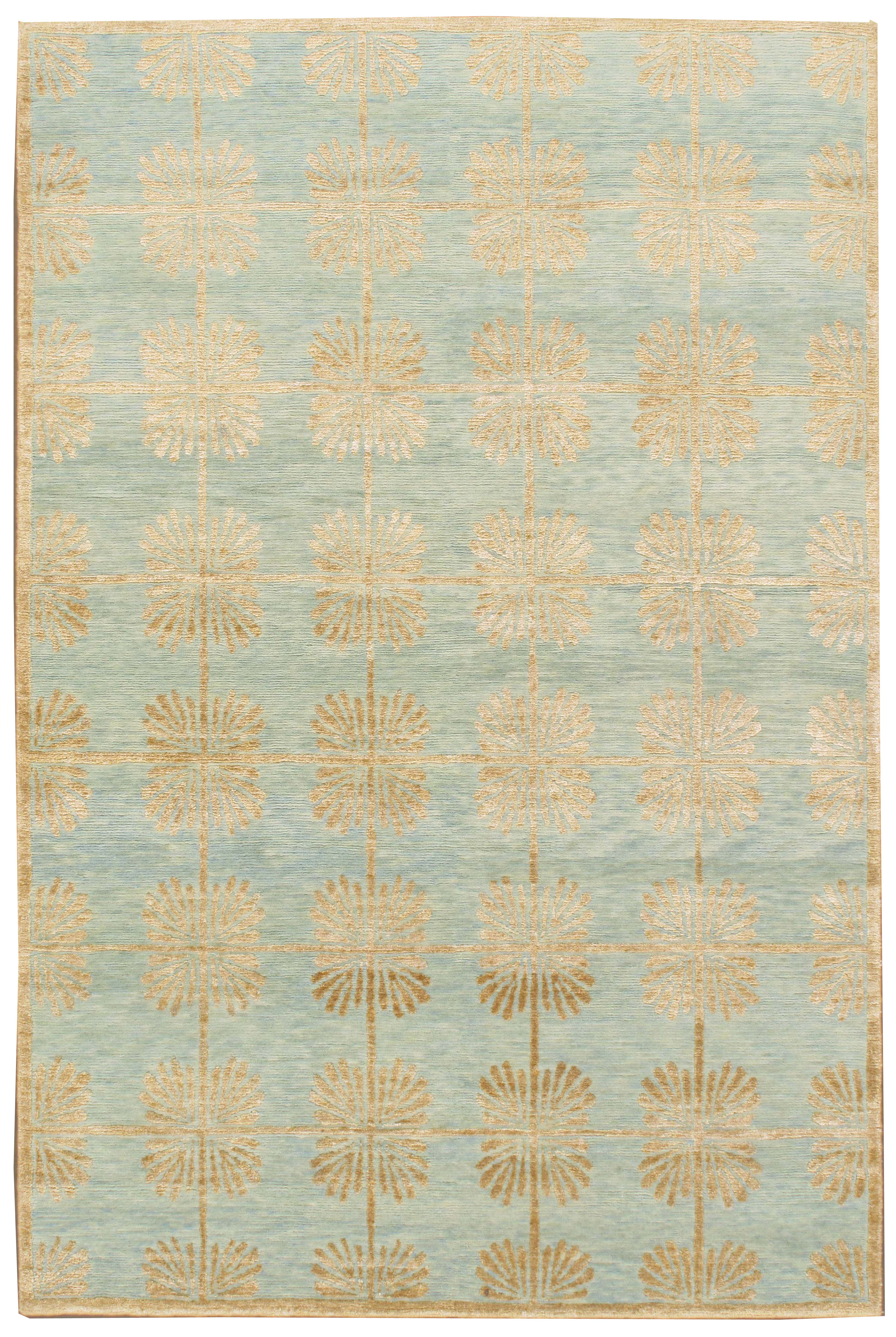 Sea Glass Lace Contemporary Rug