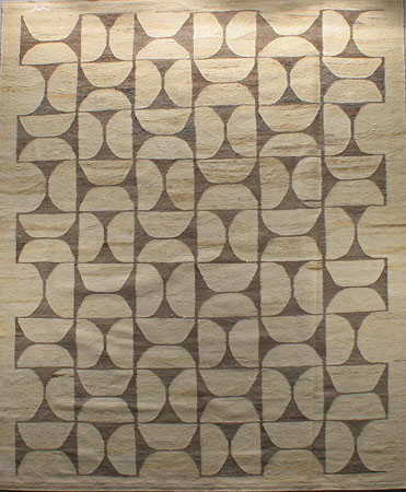 Contemporary Natural Artisan Flatweave Rug