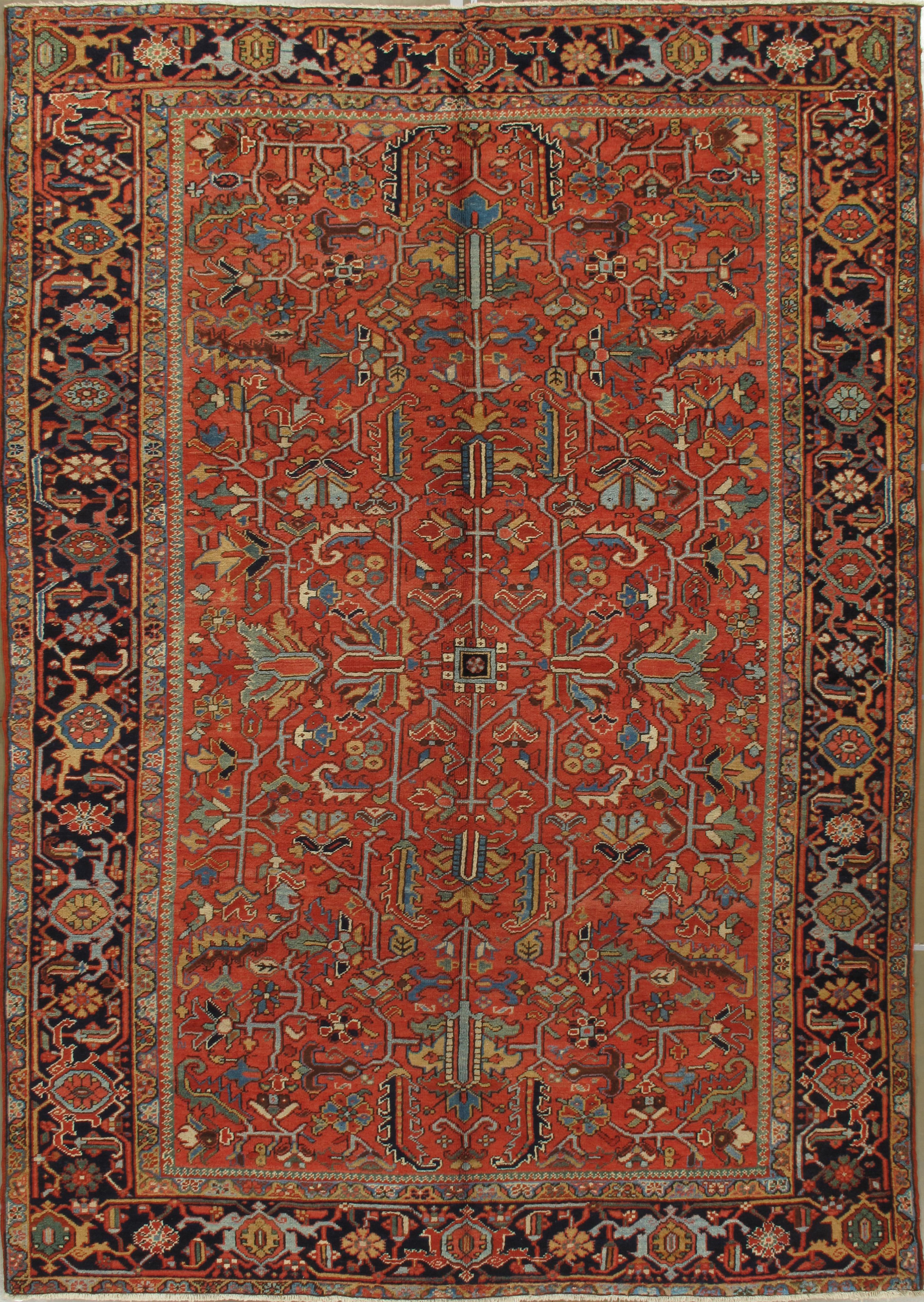 Geometric Antique Persian Heriz Rug