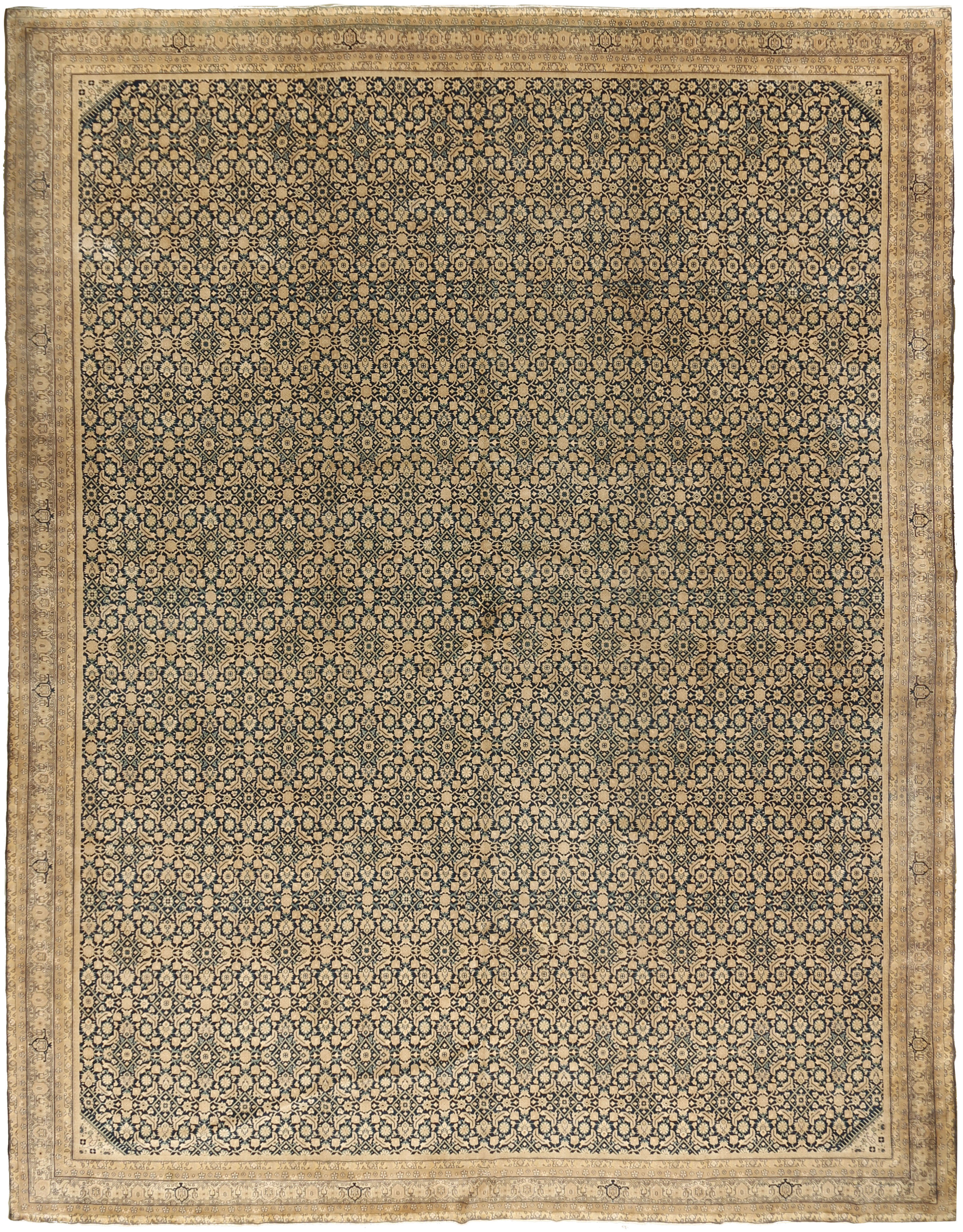 Vintage Indo Tabriz Rug