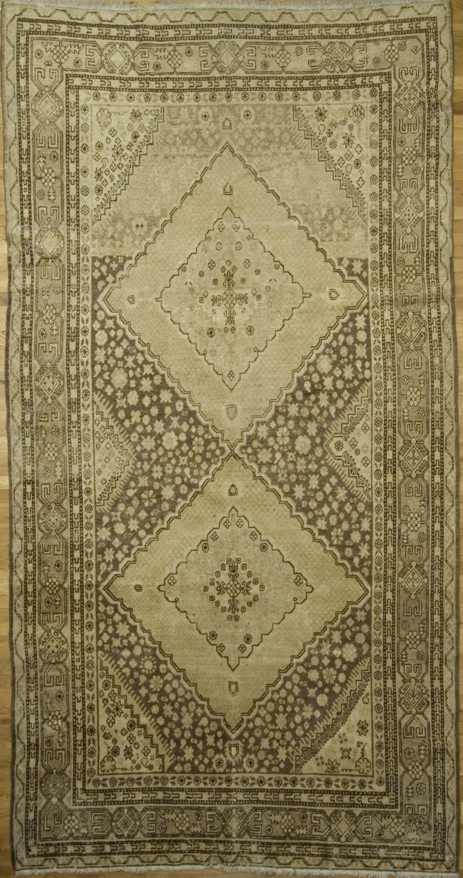 Antique Persian Khotan Gallery Size Rug