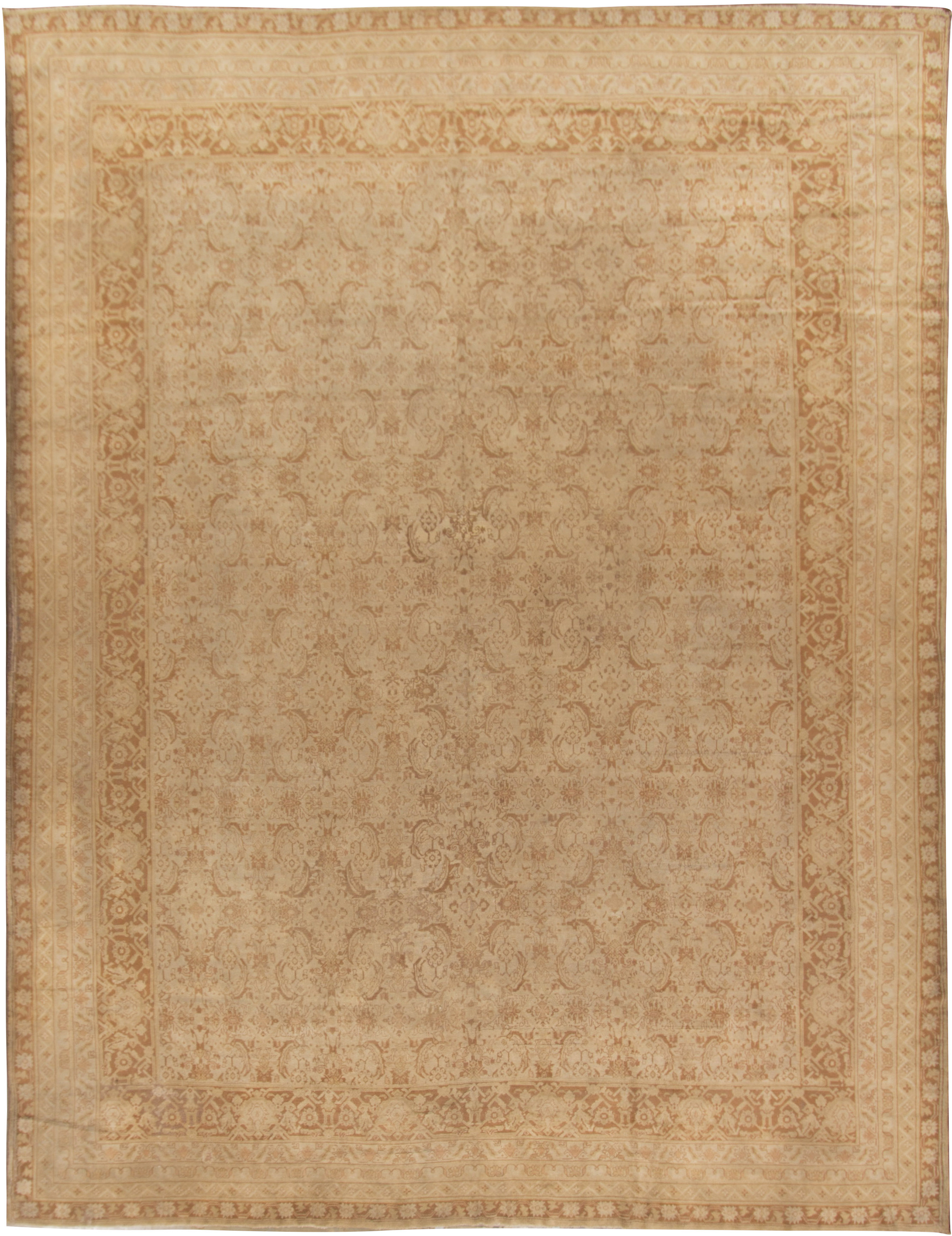 Large Antique Indian Agra Rug