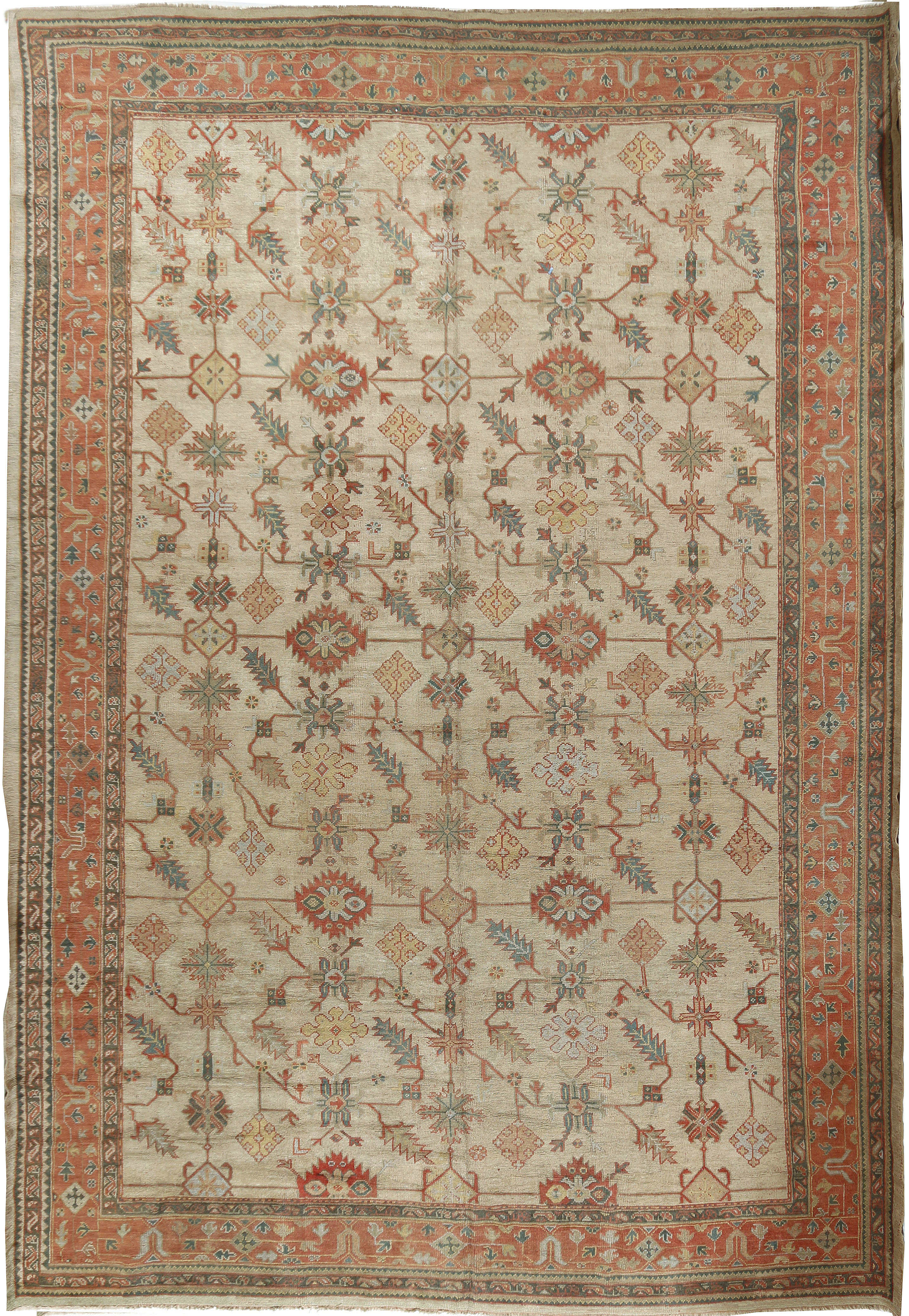 Oversize Antique Turkish Oushak Rug
