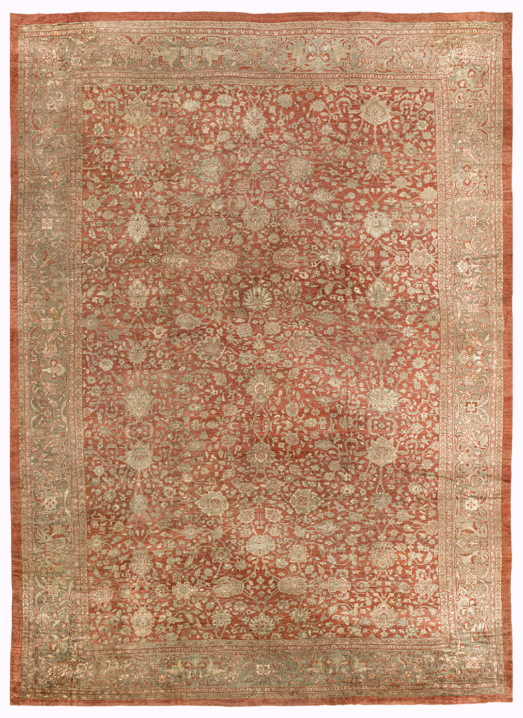 Oversize Antique Persian Sultanabad Rug