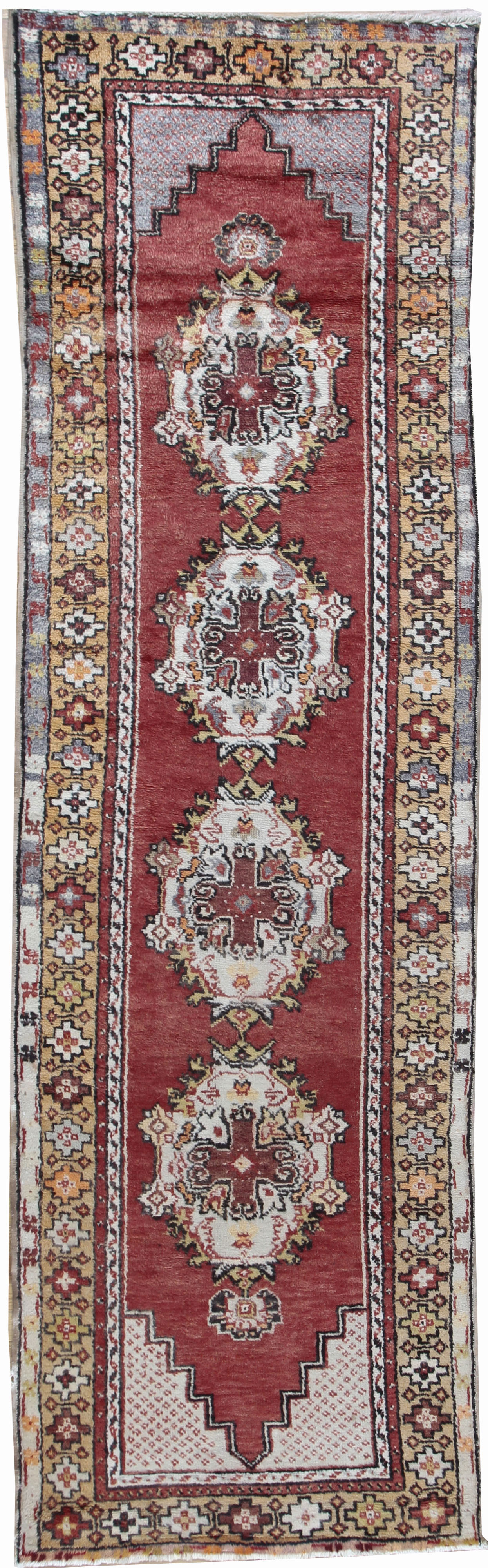 Vintage Turkish Oushak Runner Rug