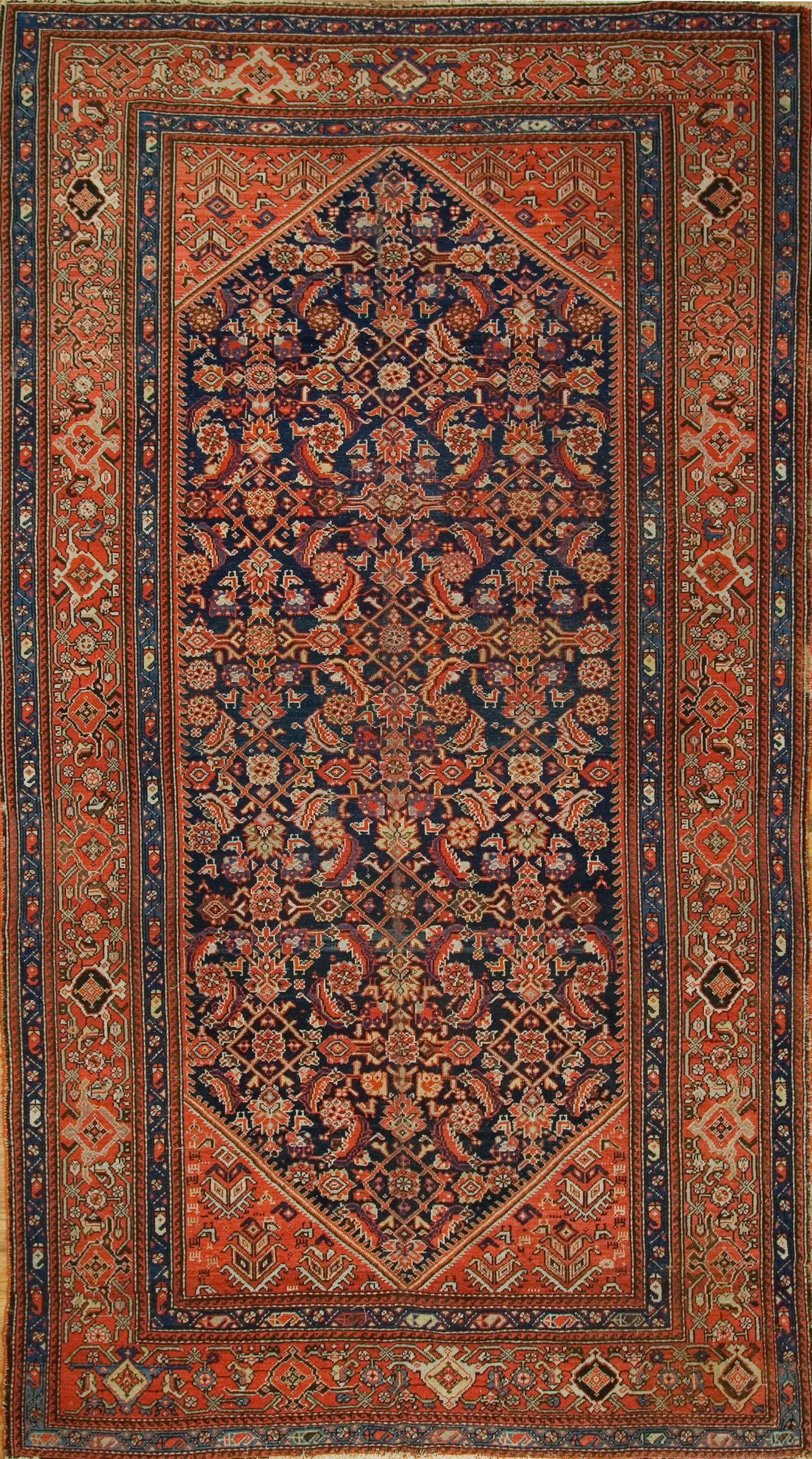 Antique Persian Malayer Gallery Size Rug