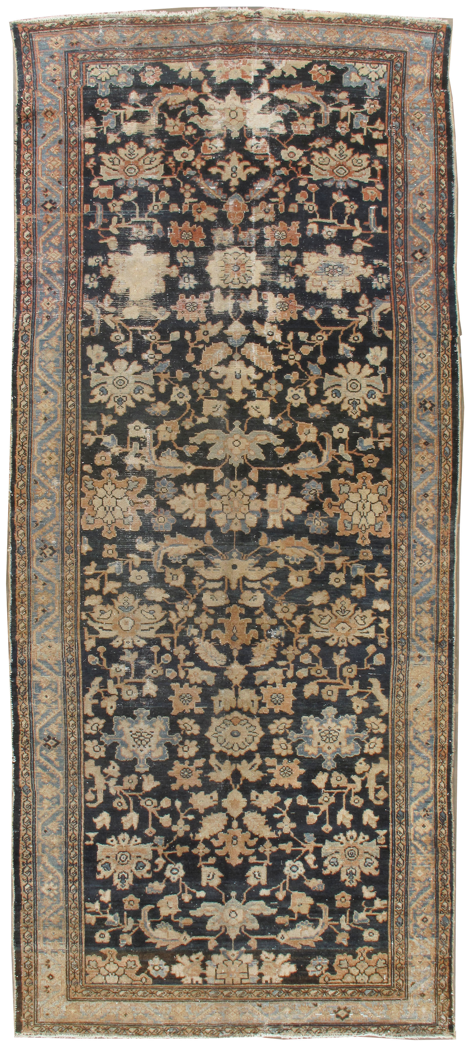 Antique Lightly Distressed Persian Malayer Rug
