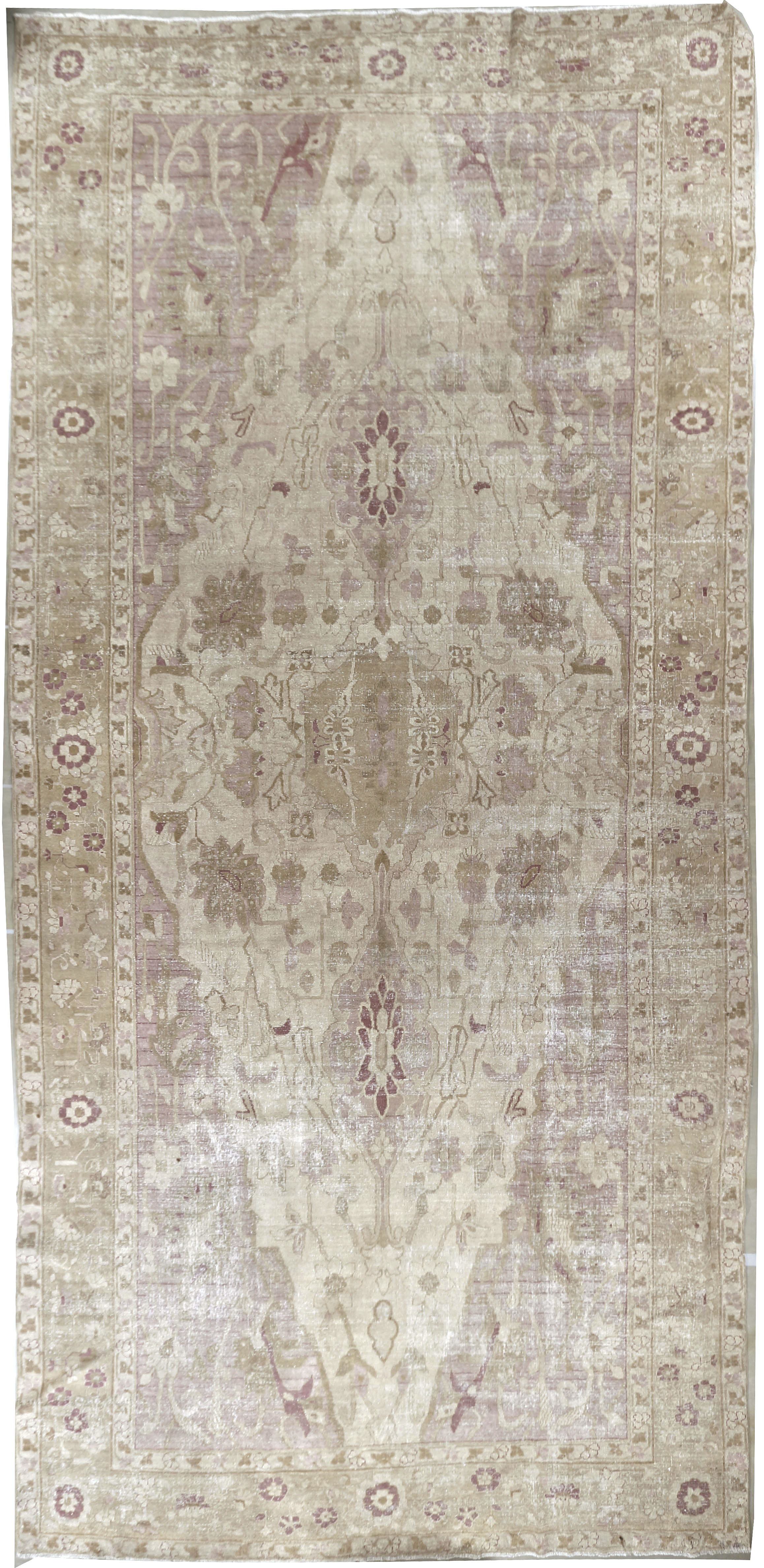 Antique Distressed Indian Amritsar Rug