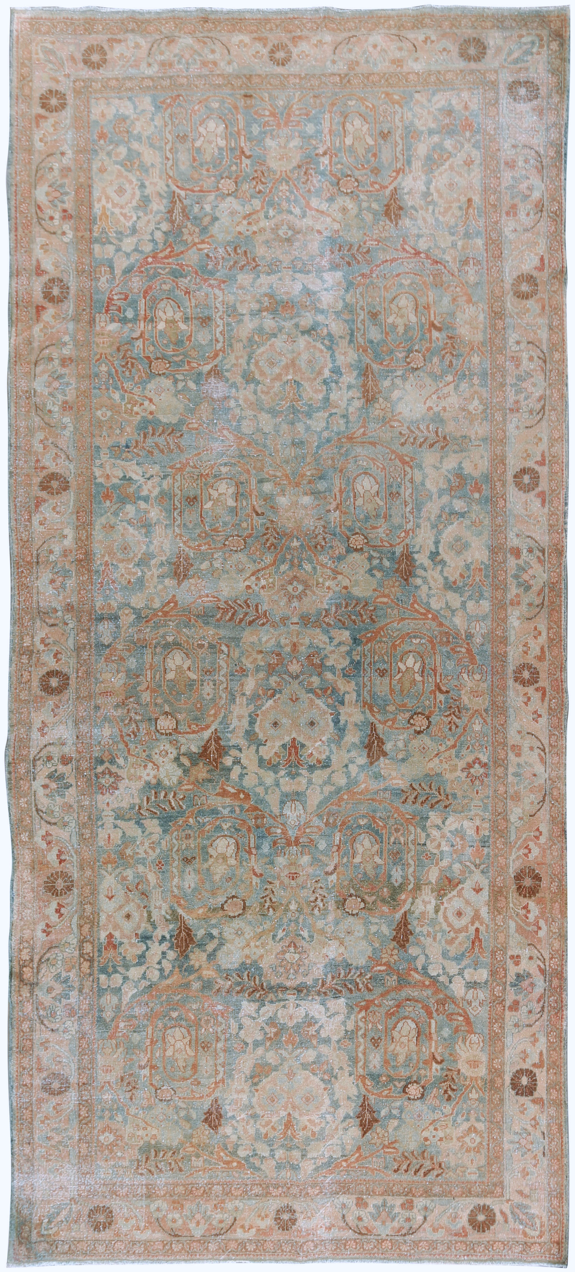 Distressed Antique Persian Mahal Rug Runner