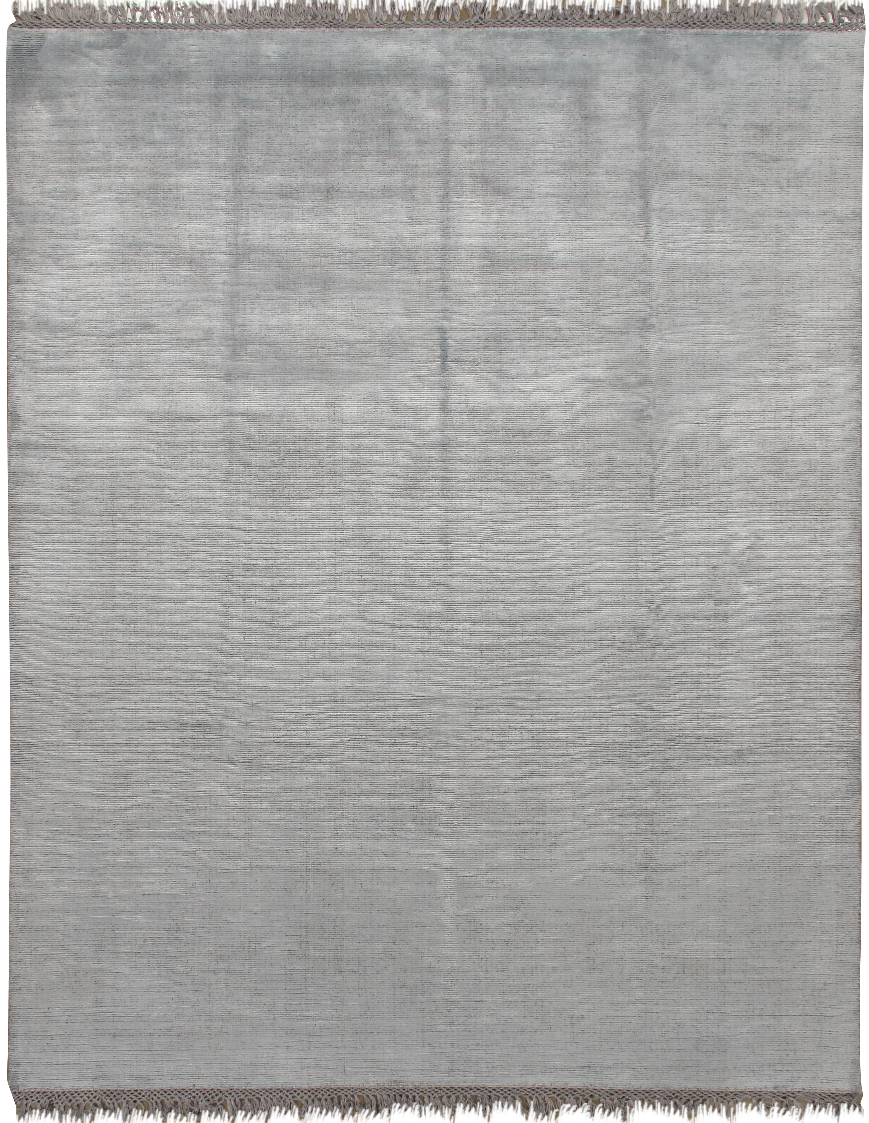 Simplicity Chic Collection Aqua-Silver Contemporary Rug