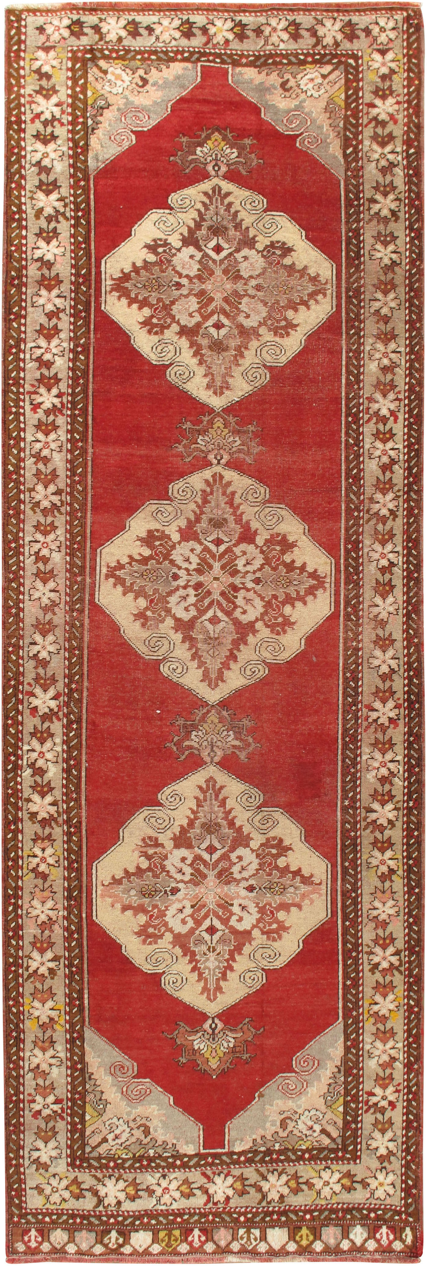 Lightly Distressed Turkish Oushak Rug