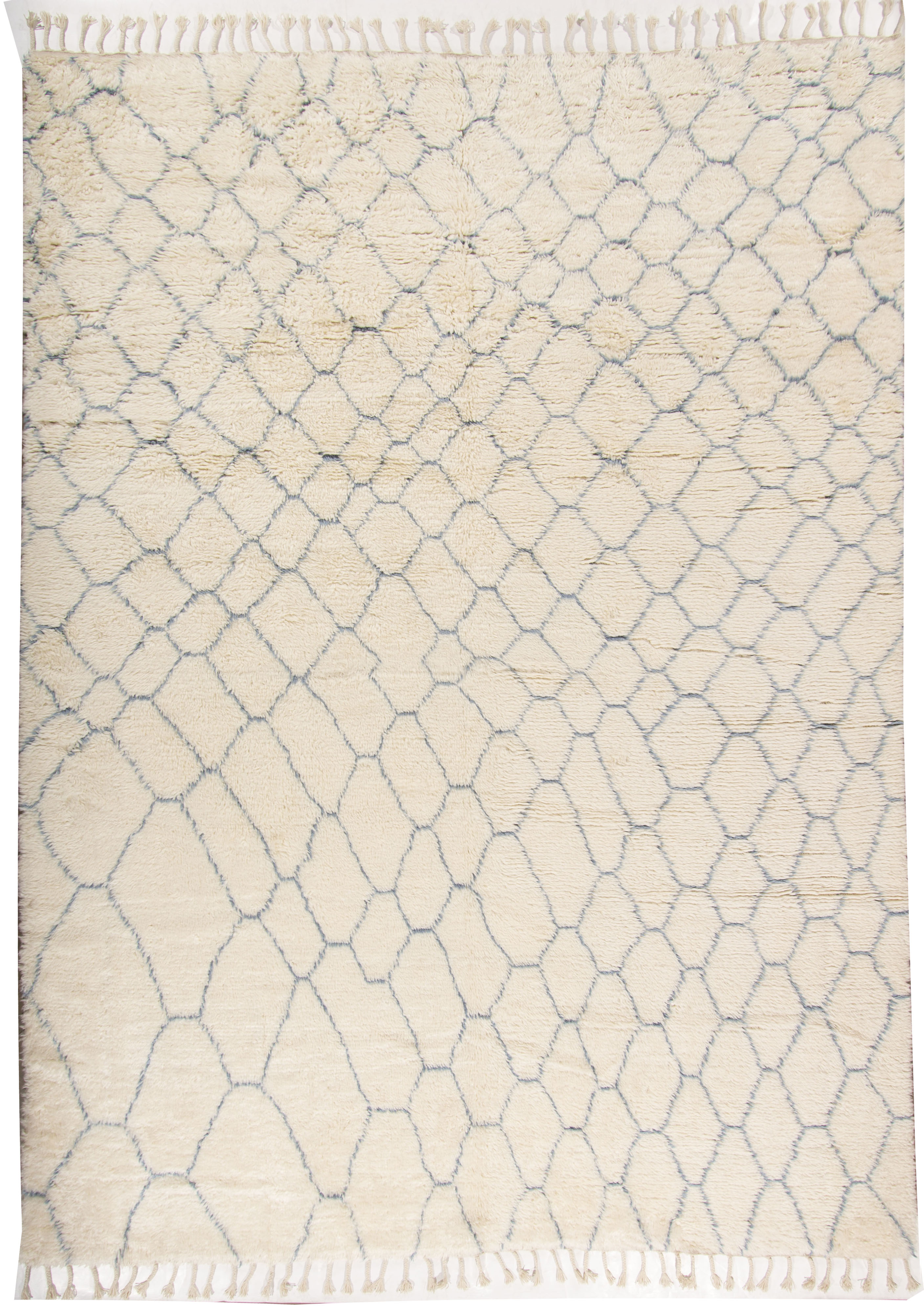 Moroccan Brick Fluffy Collection Rug
