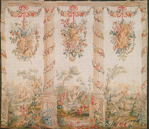 French Aubusson Circa 1780 Tapestry