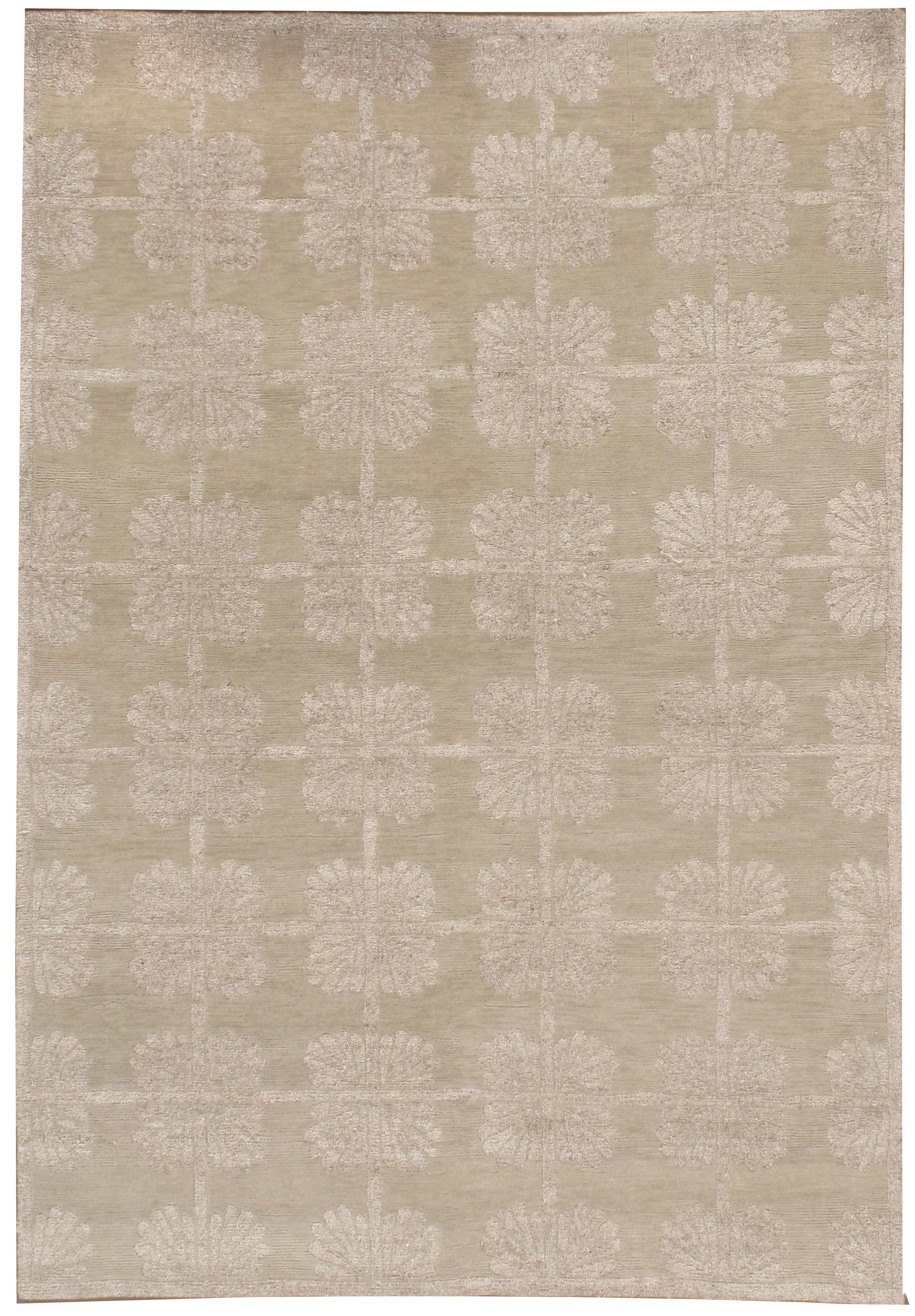 Silver Lace Contemporary Rug Bk12 Lavender Oriental
