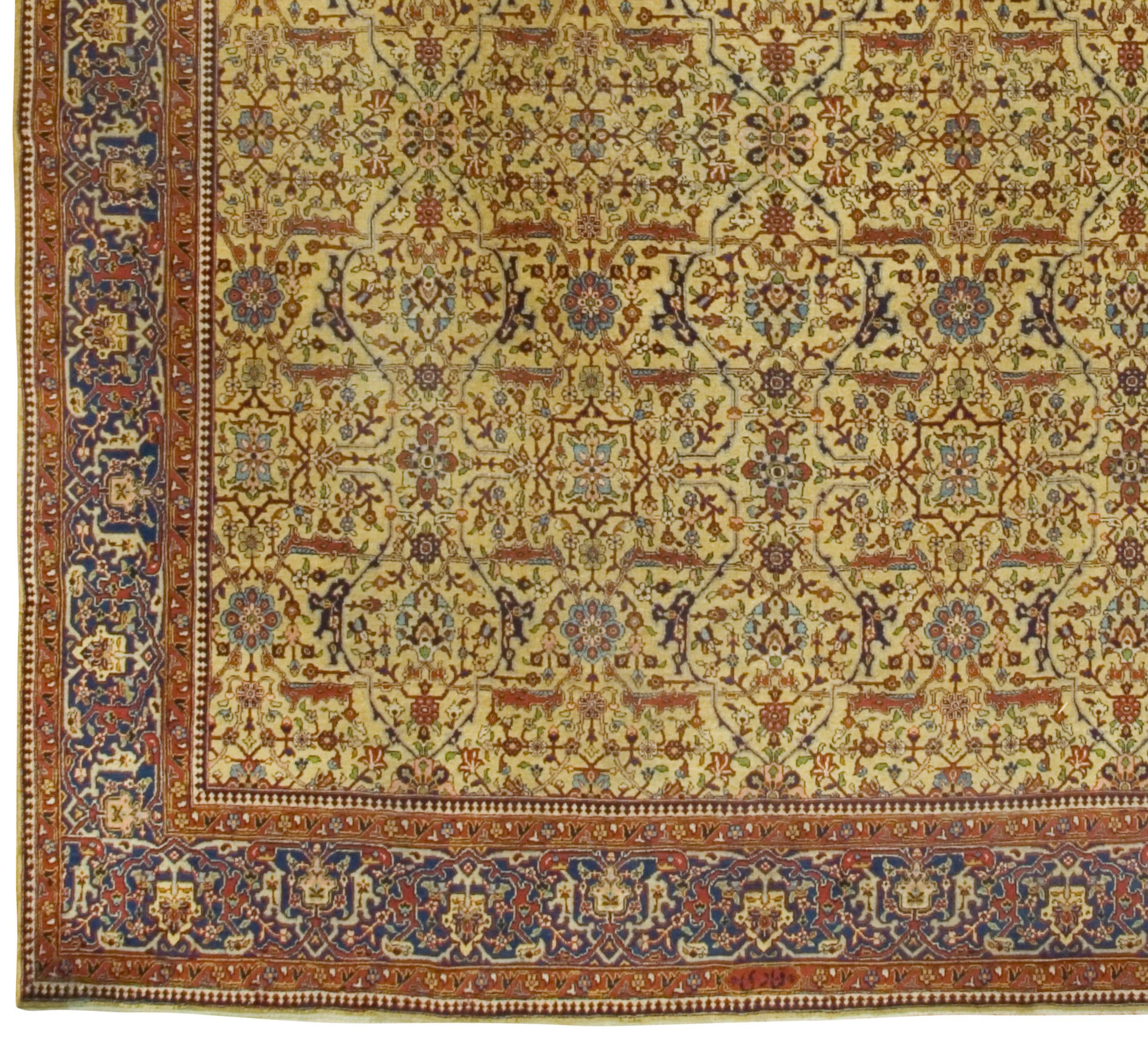 Vintage Persian Tabriz Rug U 1781 Lavender Oriental